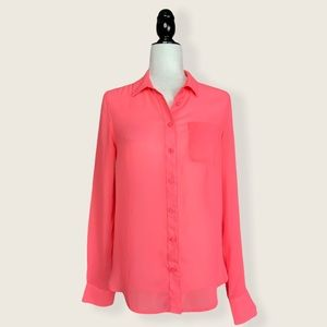 American Eagle Outfitters Semi-Sheer Button Down S